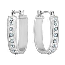 Pendientes De Aro Cuadrado De Diamantes En 14k Oro Blanco (2