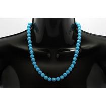 Collar De Piedra Corto Howlita Azul Cielo Ccpn128
