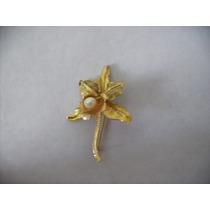 Prendedor Broche Orquidea Oro 18k Vintage