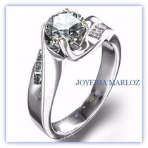 Anillo De Compromiso 14kt .70ct De Diamantes Gh Vs1