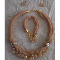Sets Collar Pulsera Y Aretes Moda 2015 Mayoreo Y Menudeo