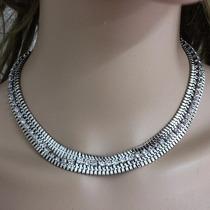Collar De Moda Zirconias Bisuteria Fina Chapado Envio Gratis