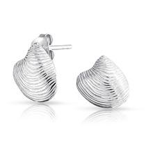 Aretes Plata 925 Concha Marina Naútico - Bling Jewelry