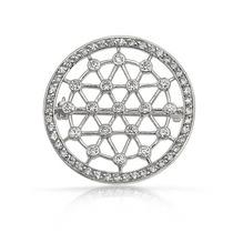 Broche Bling Jewelry Círculo Gasa Ráfaga Estrellas