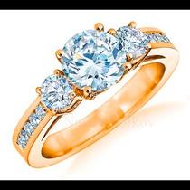 Anillo De Compromiso Con Diamante Natural 1.00ct En Oro 14k