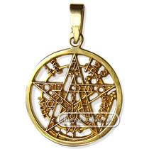 Pentagrama Esotérico De 18 Kilates