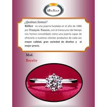 Bello Anillo De Compromiso Plata 925 Y Oro Rosa