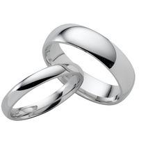 Par Argollas De Matrimonio O De Pareja De Plata!!! Lisas!!!