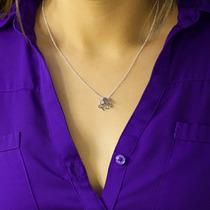 Collar Cadena Dorado Y Plata Pulpo Mini Dije Bohemio