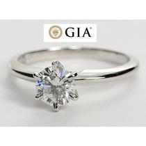 Anillo 14kt Con Diamante Certificado Gia De .39 I Vs2