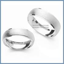 Argollas Matrimoniales Oro Blanco De 14k Chapa Envio Gratis