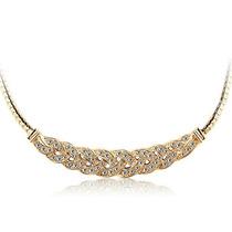 Collar De Moda, Gargantilla Con Zirconias , Oro Y Plata Omm