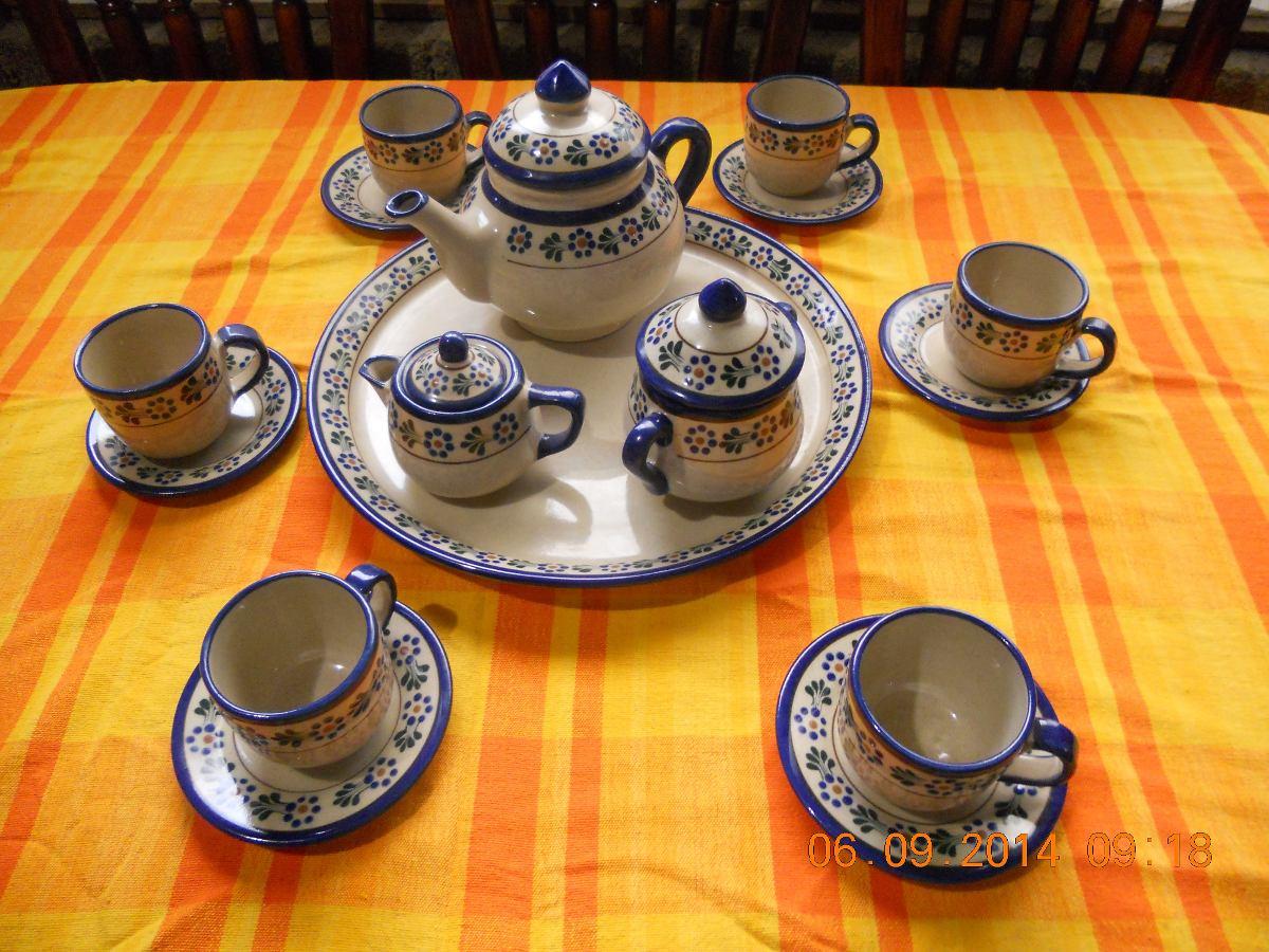 Juego de caf o te artesanal cer mica alta temperatura - Juego para hacer ceramica ...