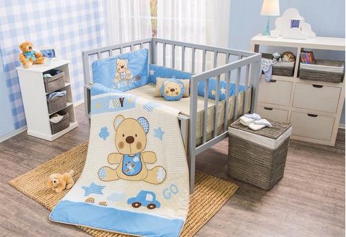 Juego de edredon tama o cama cuna corral modelo teddy vb 1 en mercadolibre - Juego de cama para cuna ...