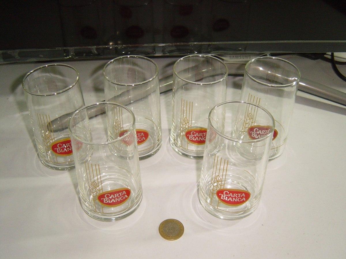 Juego de vasos de vidrio carta blanca bar 6 475 for Vasos para bar