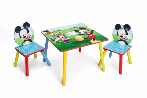 Juego mesa mesita con 2 sillas silla infantil disney - Mesita con sillas infantiles ...