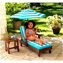 Silla Mesa Y Sombrilla Infantil Kidkraft Jardin