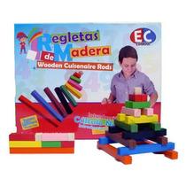 Kit Regletas De Madera Colores 298 Piezas Montessori 3+ Dml