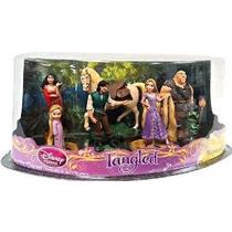 Disney Tangled Exclusivo 7 Pieza Deluxe Mini Pvc Figurine Se