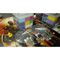 Kit Multiple 4 Perler, Hama, Pixel Art 2 Bases, Pinzas