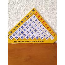 Juego Didáctico De Madera Triángulo De Multiplicar
