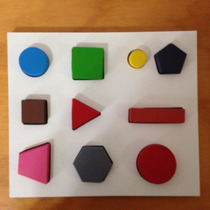 Juego Didáctico De Madera Figuras Geométricas
