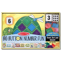 Juego De Cuentas 1-10 Y Botones Geométricos Melissa & Doug