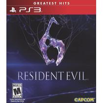 Resident Evil 6 Ps3 Nuevo Sellado 100% Original Playstation