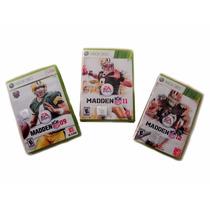 Paquete 3 Juegos Xbox 360 Nfl Madden 100% Originales,usados