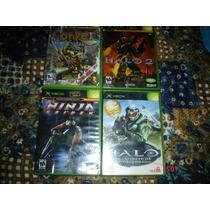 X-box Halo,halo 2,ninja Gaiden Y Conker