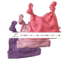 Bebé Soja Fundamentos 3 Pieza Sombrero Nudo Doble Para Niñas