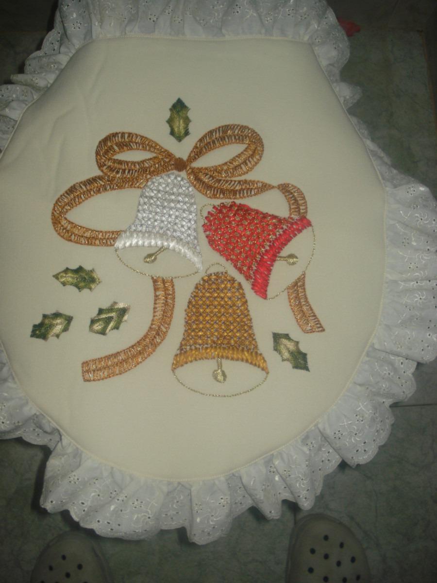 Juego De Baño Navideno Manualidades:Juego De Baño En Manta Juego De Baño Manta Bondeada Pintura Textil