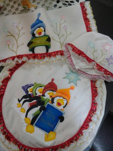 Juego De Baño Navideno A Crochet:Juegos De Baño Pintados A Mano Con Motivos Navideños – $ 20000 en