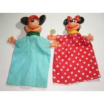 Juguete Antiguo Títere Marioneta De Mickey Y Mimi