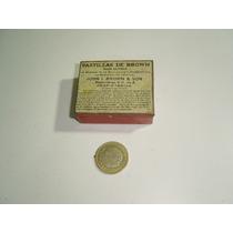 Antigua Caja Pequeñita De Lámina Pastillas De Brown