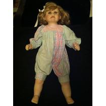 Muñeca De Porcelana Fina Dolly Bunt De Coleccion