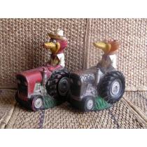 Alcancia Antigua En Forma De Tractor...