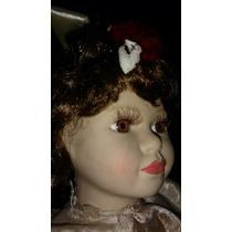 Muñeca Antigua De Porcelana