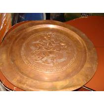 Antiguo Plato De Cobre, Juego De Pelota Cultura Maya, Mide 2