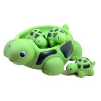Tortuga Familiar Bañera Establece (juego De 4) - Flotante Ba