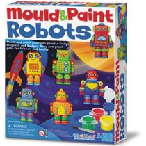 4m Kit Moldea Y Pinta Robots De Yeso Didactico Creativo