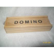 Gcg Domino Caja De Madera Y Fichas De Plastico Dpa
