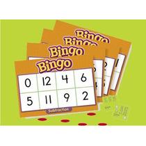 Bingo Lotería Didáctica De Restas Marca Trend