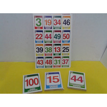 Loteria Didáctica Números Juego Matemáticas Escuela