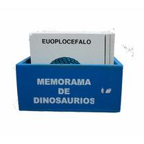 Material Didáctico Memorama De Dinosaurios De Madera