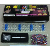 Telar Bandas Kit, Incluye Loom, Hook, 600 Bandas De Color