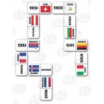 Edu-138 Domino Europa Banderas Capitales 28 Pzas 4+ Eduplas