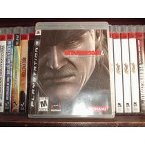 Juego Ps3 Metal Gear Solid 4 Usado Completo Mdn