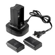 Cargador De Baterías Xbox 360 / 2 Baterías Incluidas Mundo 9