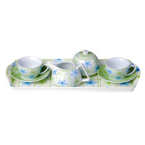 Set Aqua Platos Tazas Azucarera Ceramica Good And Good